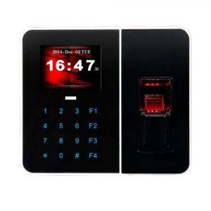 Controlador biométrico de accesos para puertas y maquina reloj de presencia con seguridad de huellas dactilares a través de web.