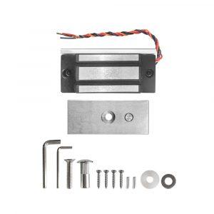 Cerradura Electromagnética de 60kg compacta YM-60 para control de acceso