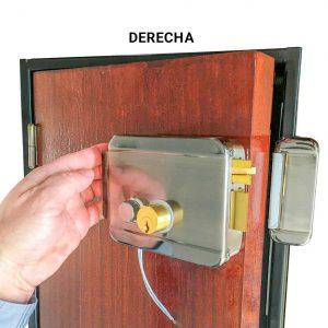 Cerradura tipo portón ABK 702B R   Apertura derecha para Control de Acceso