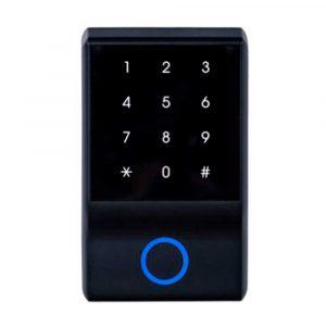 Lector RFID Controlador de Acceso PCT-111. Trabaja con clave numérica y/o llaveros y tarjetas de proximidad 125 KHz.